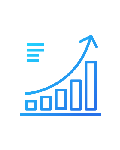 Ícone de diagrama de métricas AgileMS